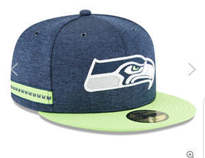 Football Seattle Seahawks Team Logo Fitted Hat Cap