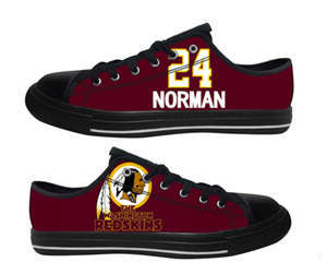 Football Washington Redskins Team Logo Fashion Rubber Shoes (12)