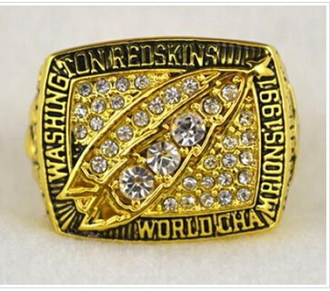Football Washington Redskins World Champions Gold Ring