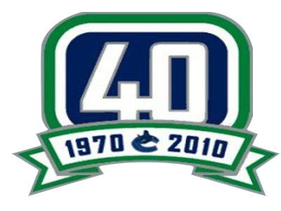 Hockey Vancouver Canucks 40th Anniversary Patch