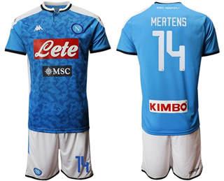 Naples #14 Mertens Blue Home Soccer Club Jersey
