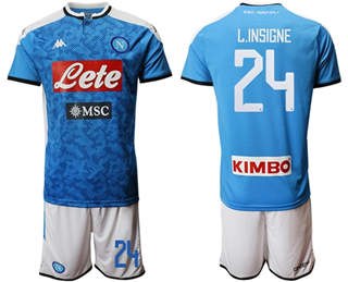 Naples #24 L.Insigne Blue Home Soccer Club Jersey