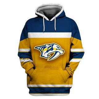 Nashville Predators Gold All Stitched Hooded Sweatshirt