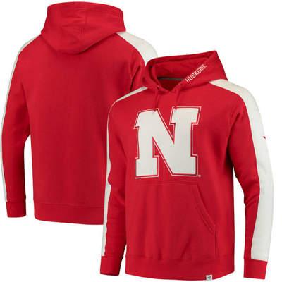 Nebraska Cornhuskers Iconic Colorblocked Fleece Pullover Hoodie - Scarlet