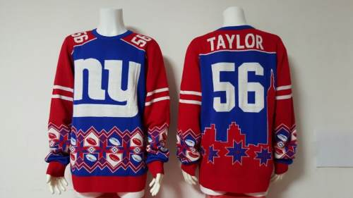 New York Giants #56 Lawrence Taylor Football Ugly Sweater