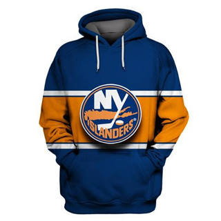 New York Islanders Blue Orange All Stitched Hooded Sweatshirt
