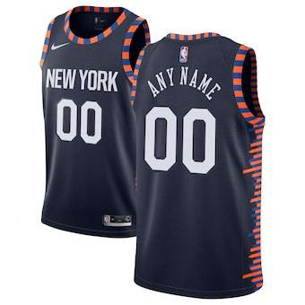 New York Knicks  2018-19 Swingman Custom Jersey - City Edition - Navy