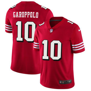 49ers #10 Jimmy Garoppolo Red 2018 Vapor Untouchable Limited Jersey