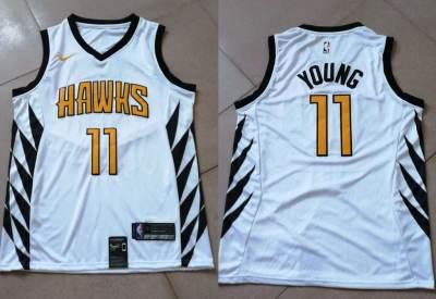 Atlanta Hawks #11 Trae Young White 2018-19 Swingman Basketball New City Edition Jersey