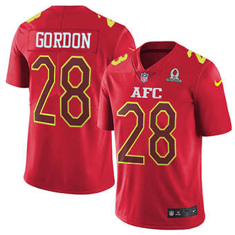 Chargers #28 Melvin Gordon Red Men's Stitched Football Limited AFC 2017 Pro Bowl Jersey