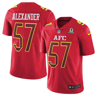 Chiefs #57 D.J. Alexander Red Men's Stitched Football Limited AFC 2017 Pro Bowl Jersey