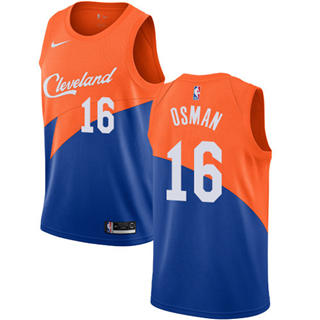 Cleveland Cavaliers #16 Cedi Osman Blue 2018-19 Swingman Basketball New City Edition Jersey
