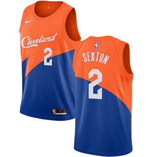 Cleveland Cavaliers #2 Collin Sexton Blue 2018-19 Swingman Basketball New City Edition Jersey