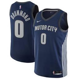 Detroit Pistons #0 Andre Drummond Navy Basketball Swingman City Edition Jerseyv