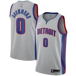 Detroit Pistons #0 Andre Drummond Silver Basketball Swingman Statement Edition Jersey