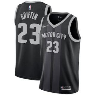 Detroit Pistons #23 Blake Griffin 2018-19 Swingman Basketball New City Edition Jersey Black