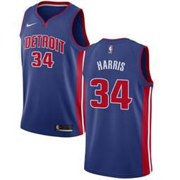 Detroit Pistons #34 Tobias Harris Blue Basketball Swingman Icon Edition Jersey
