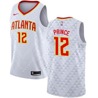 Hawks #12 Taurean Prince White Basketball Swingman Association Edition Jersey