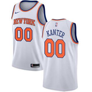 Knicks #00 Enes Kanter White Basketball Swingman Association Edition Jersey