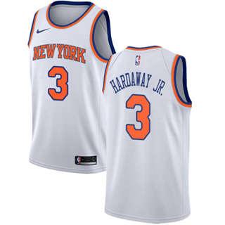 Knicks #3 Tim Hardaway Jr. White Basketball Swingman Association Edition Jersey