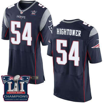 Patriots #54 Dont'a Hightower Navy Blue Team Color Super Bowl LI Champions Men's Stitched Football New Elite Jersey