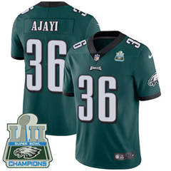 Philadelphia Eagles #36 Jay Ajayi Midnight Green Team Color Super Bowl LII Champions Men's Stitched Football Vapor Untouchable Limited Jersey