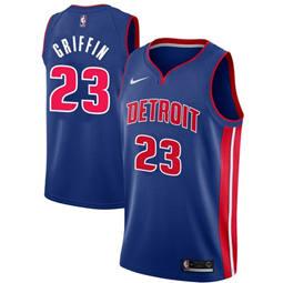 Pistons #23 Blake Griffin Blue Basketball Swingman Icon Edition Jersey