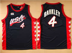 Team USA #4 Charles Barkley Navy Blue 1996 Dream Team Stitched Basketball Jersey