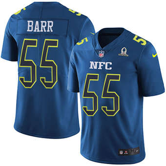 Vikings #55 Anthony Barr Navy Men's Stitched Football Limited NFC 2017 Pro Bowl Jersey