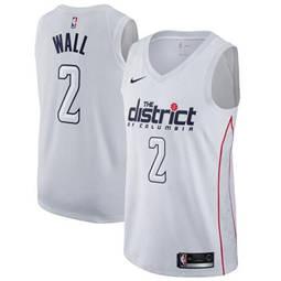 Washington Wizards #2 John Wall White Basketball Swingman City Edition Jersey