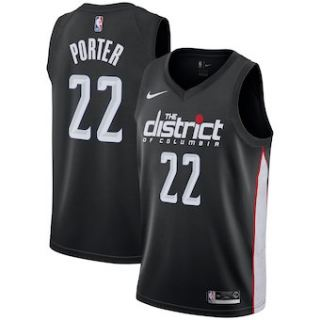 Washington Wizards #22 Otto Porter 2018-19 Swingman Basketball New City Edition Jersey Black