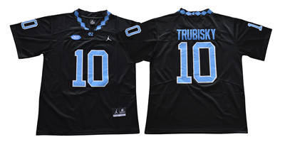 North Carolina Tar Heels #10 Mitch Trubisky Black College Football Jersey
