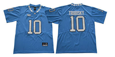 North Carolina Tar Heels #10 Mitch Trubisky Blue College Football Jersey