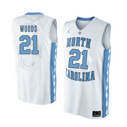 North Carolina Tar Heels #21 Seventh Woods White College Basketball Jersey