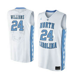 North Carolina Tar Heels #24 Kenny Williams White College Basketball Jersey