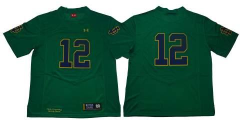 Notre Dame Fighting Irish #12 Green Under Armour NCAA College Football Jersey