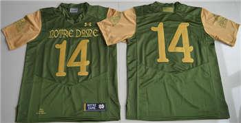 Notre Dame Fighting Irish #14 Green College Football Jersey