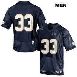 Notre Dame Fighting Irish #33 Josh Adams Mens Stitched Navy Under Armour  College Football Jersey
