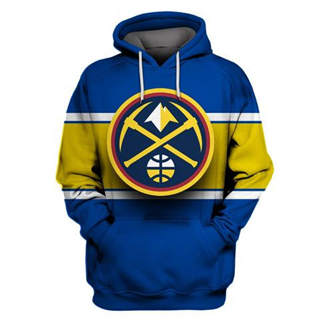 Nuggets Blue All Stitched Hooded Sweatshirt