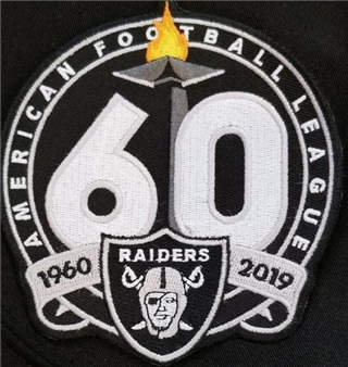 Oakland Raiders 1960-2019 60th Anniversary Stitched Patch