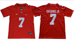 Youth Ohio State Buckeyes #7 Dwayne Haskins Jr Red Limited Stitched NCAA Jersey
