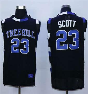 One Tree Hill Ravens #23 Nathan Scott Black Stitched Basketball Jersey