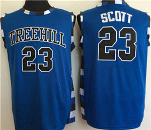 One Tree Hill Ravens #23 Nathan Scott Blue College Basketball Jersey