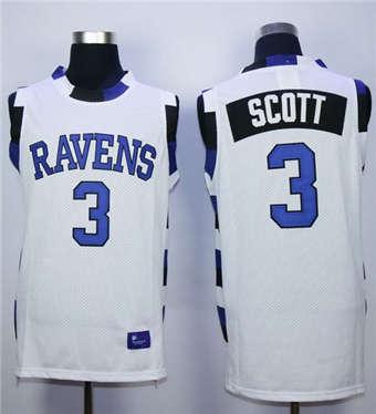 One Tree Hill Ravens #3 Lucas Scott White Stitched Basketball JerseyOne Tree Hill Ravens #3 Lucas Scott White Stitched Basketball Jersey