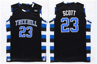 One Tree Hill movie edition jerseys #23 SCOTT black jerseys