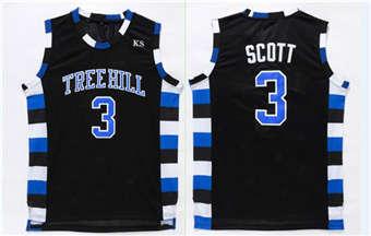 One Tree Hill movie edition jerseys #3 SCOTT black jerseys