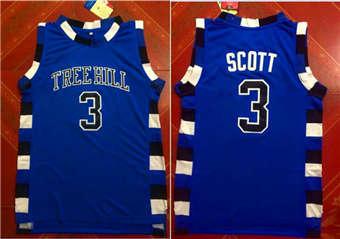 One Tree Hill movie edition jerseys #3 SCOTT blue jerseys