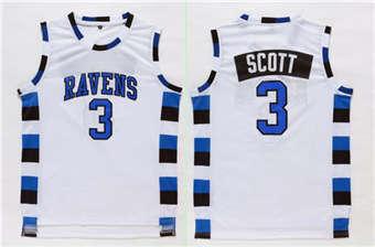 One Tree Hill movie edition jerseys #3 SCOTT whiite jerseys