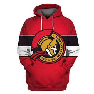 Ottawa Senators Red All Stitched Hooded Sweatshirt