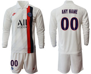 Paris Saint-Germain Personalized Away Long Sleeves Soccer Club Jersey